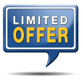 Limited offer — Foto Stock