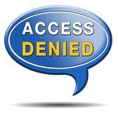 Access denied — Stock Photo
