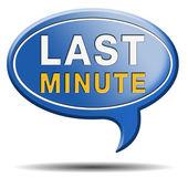 Last minute ticket sign — Stock Photo
