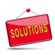 Solutions sign — Stock Photo