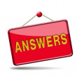 Search answers icon — Stock Photo