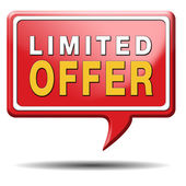 Limited offer sign — Photo