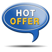 Hot offer icon — Stock Photo
