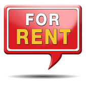 For rent sign — Stock Photo