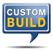 Custom build label — Stock Photo