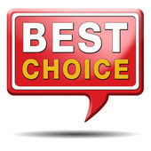 Best choice sign — Stockfoto