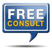 Free consult icon — Stock Photo