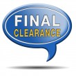 Stock Photo: Final clearance