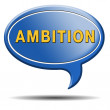Ambition speech bubble — Stock Photo