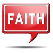 Faith icon — Stock Photo