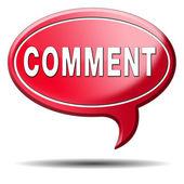 Comment icon — Stock Photo