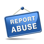 Report abuse sign — Stock Photo