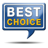 Best choice sign — Stock Photo