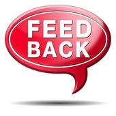 Feed back icon — Stock Photo