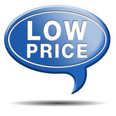 Low price icon — Stock Photo