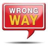 Wrong way — Stockfoto