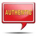 Authentic button — Stock Photo