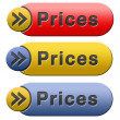 Prices button — Stock Photo