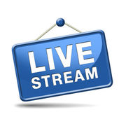 Live stream — Stock Photo