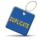 Duplicate — Stockfoto