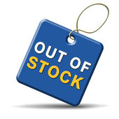 Out of stock — Foto de Stock