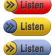 Listen button — Stock Photo
