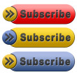 Subscribe button — Stock Photo