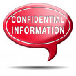 Stock Photo: Confidential information