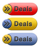 Deals icon — Stock Photo