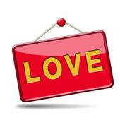 Love placard — Stock Photo