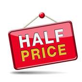 Half price — Stockfoto
