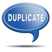 Duplicate — Foto de Stock