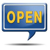 Otevírací doba — Stock fotografie