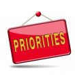 Priorities button — Stock Photo