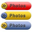 Photos button — Foto de Stock