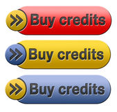 Buy credits — Stock Photo