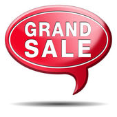 Grand sale — Stock Photo