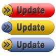 Update button — Stock Photo
