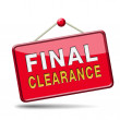 Final clearance — Stock Photo