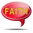 Faith icon — Stock Photo