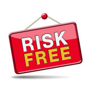 Risk free sign — Stock Photo