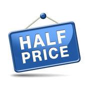 半分の価格 — ストック写真