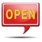 Godziny otwarcia — Zdjęcie stockowe