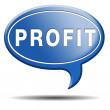 Profit icon — Foto Stock