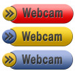 图库照片: Webcam button