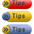 Tips button — Stock Photo