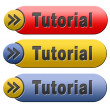 Tutorial button — Foto Stock