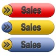 Sales button — Stock Photo