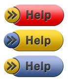 Yardım simgesi — Stok fotoğraf