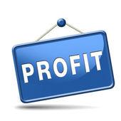 Profit icon — Stock Photo